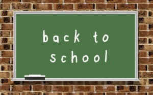 "Chalkboard with words ""back to school"""